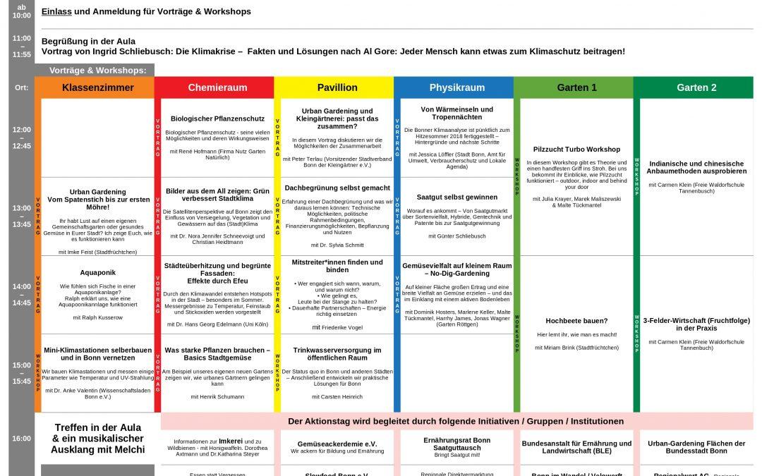 6. Oktober '18 – Zeitplan für Aktionstag in Bonn
