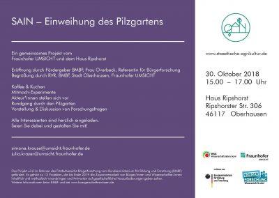 Einladung Einweihung SAIN-Pilzgarten