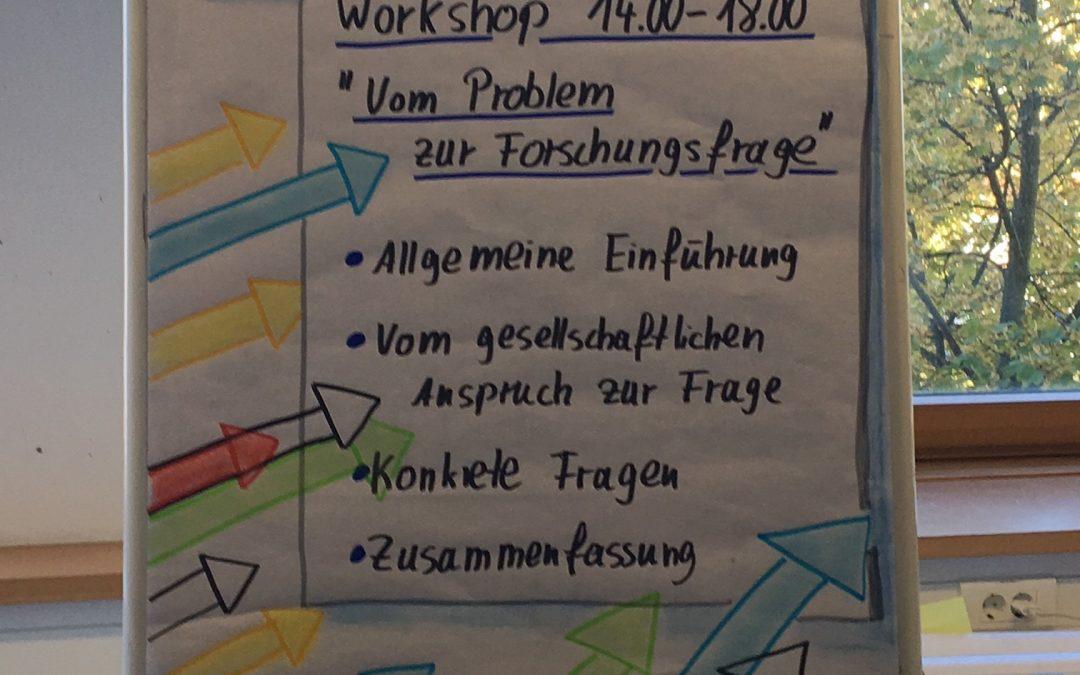 """Workshop in Bonn: """"Von der Idee zur Forschungsfrage"""""""